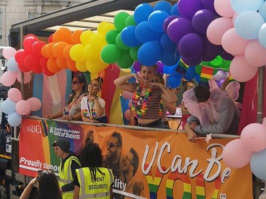 LGBT Society float at Birmingham Pride 2019